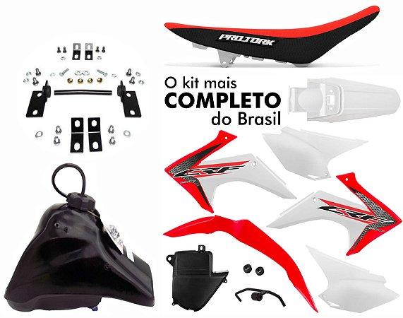 Kit Crf 230 2018 Protork Ptvm Adaptável Xtz 125 + Ferragens