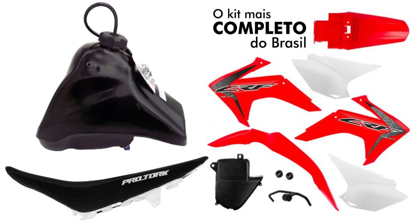 Kit Crf 230 2018 Protork Vermelho Adaptável Bros - Tornado