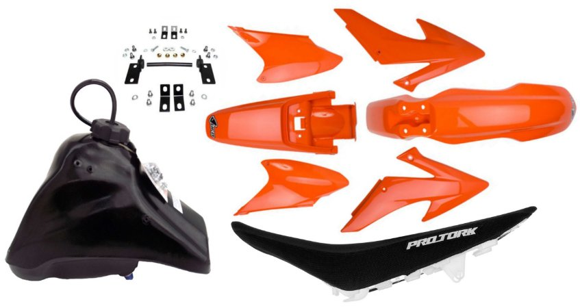 Kit Elite Biker Crf 230 Adaptável Xr 200 Laranja
