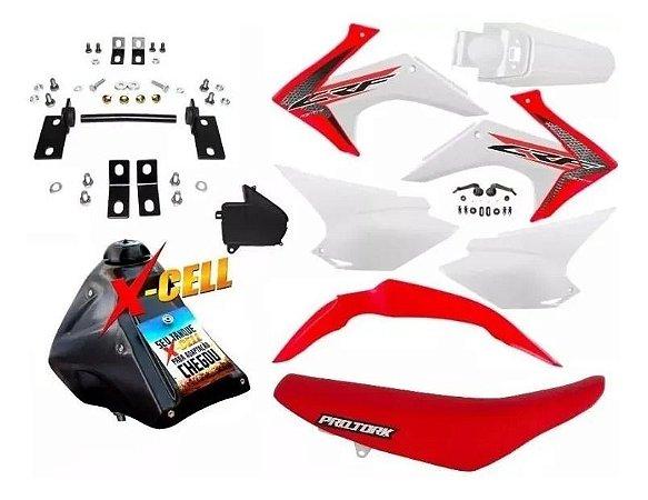 Kit CRF 230 F 2015 a 2020 - Avtec - Adaptável Bros + Ferragens