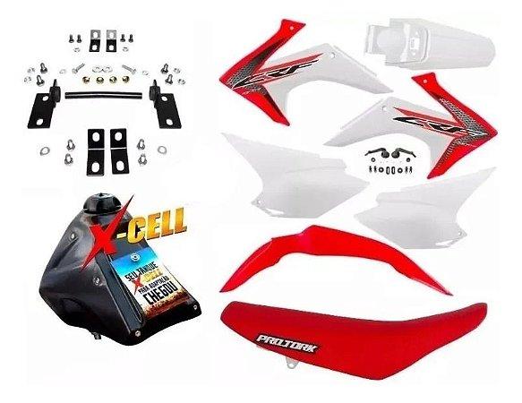 Kit CRF 230 F 2015 a 2020 - Avtec Original Adaptável Bros + Ferragens