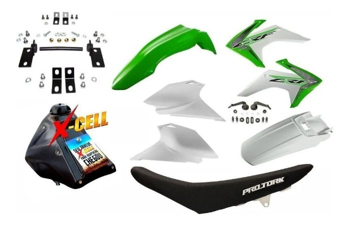 Kit CRF 230 F 2015 a 2020 Avtec Verde Adaptável Tornado + Ferragens