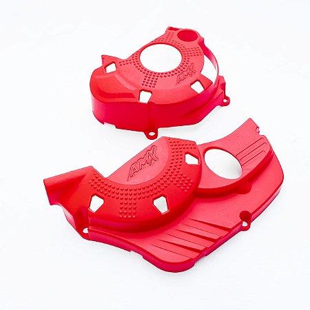 Protetor Tampas Do Motor Crf250f Amx - Vermelho