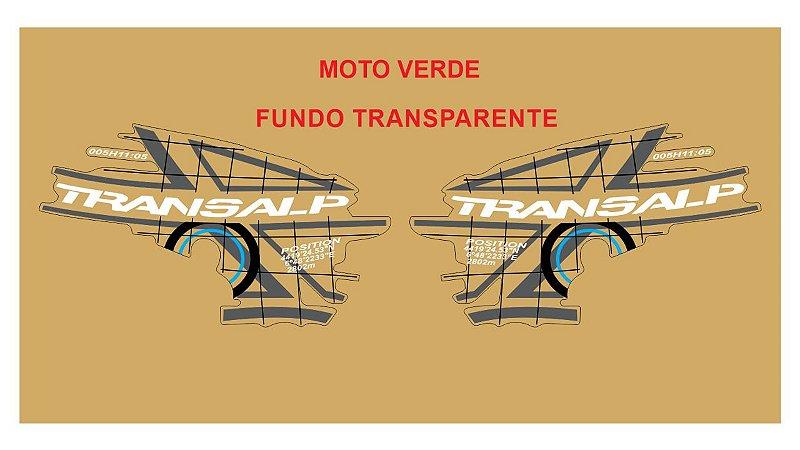 Kit Faixa Adesivo VINIL - Honda Transalp Xl 700v 2011 - Verde