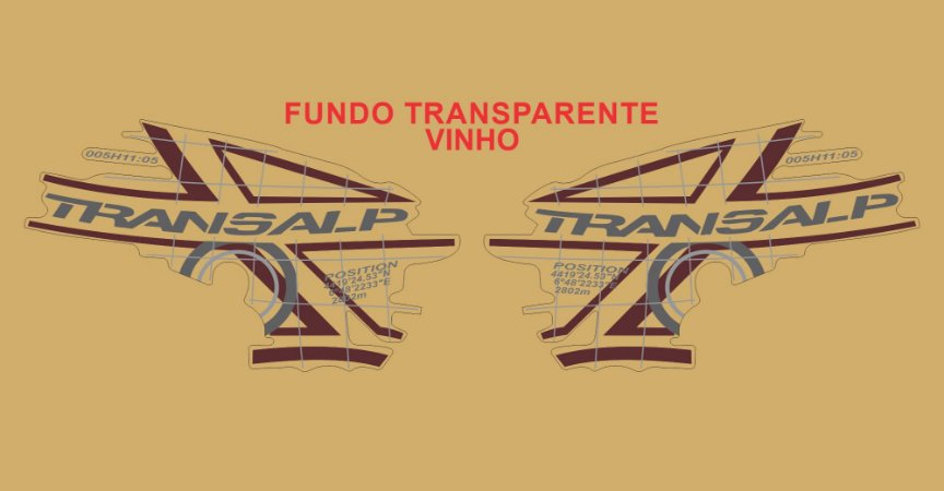 Kit Faixa Adesivo VINIL - Honda Transalp Xl 700v 2011 - Vinho