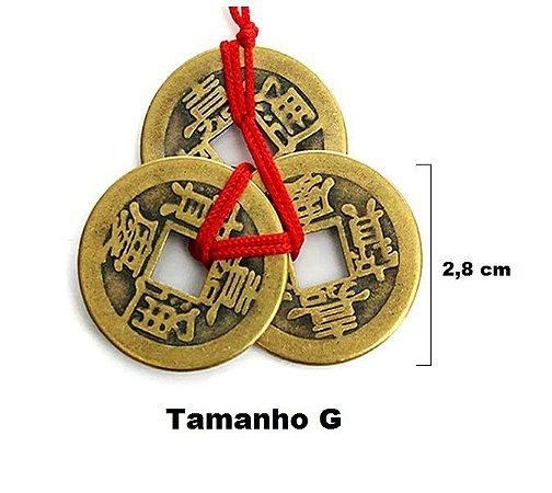Moedas Da Sorte Chinesa Feng Shui Riqueza Sucesso G (2,8 cm)