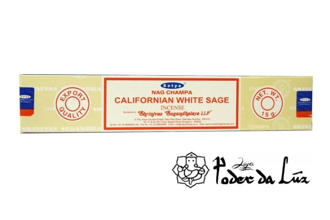 Incenso Massala Satya Californian White Sage (Sálvia Branca)