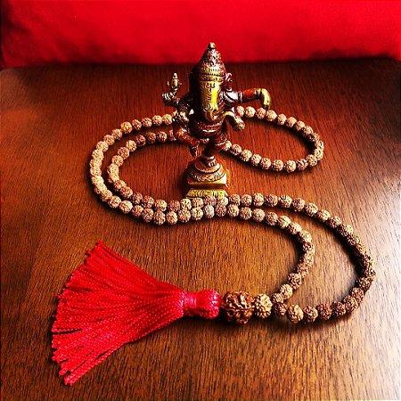 Japamala Rudraksha Red, 108 Contas, 10mm