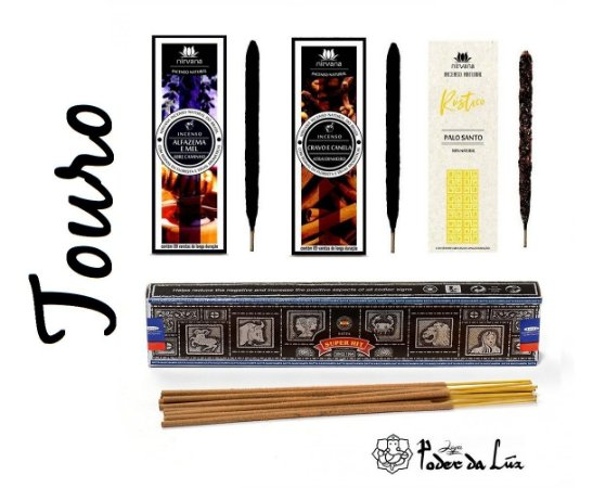Kit Incensos do Signo Touro (4 caixas)