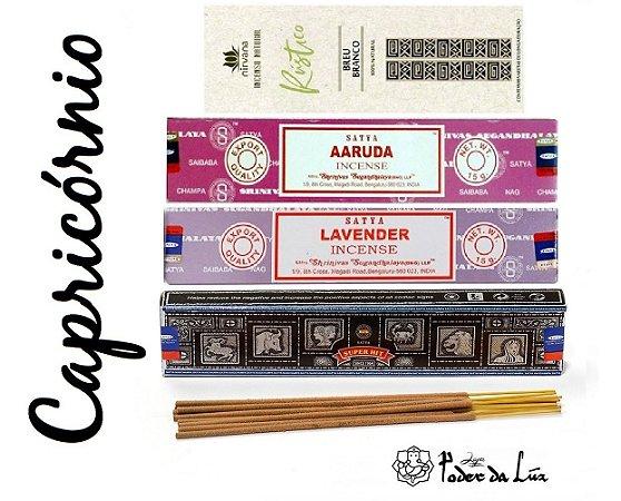 Kit Incensos do Signo Capricórnio (4 caixas)