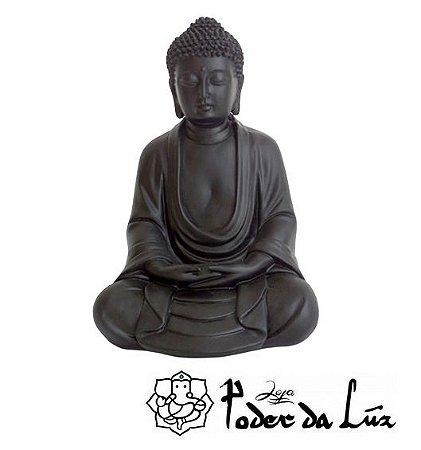 Buda da Sabedoria (Dhyana Mudra) Preto 24cm