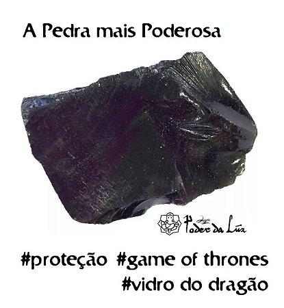 Pedra Obsidiana Negra Bruta Grande