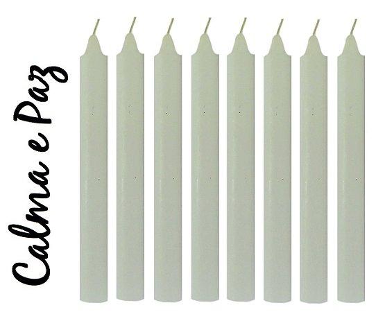 Vela Palito Branca (maço 8 unidades)