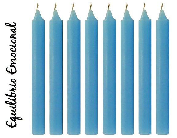 Vela Palito Azul Claro (maço 8 unidades)
