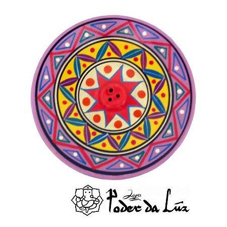 Incensário Cerâmica Peruano Lilás