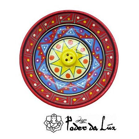 Incensário Cerâmica Peruano Vermelho