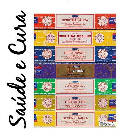Kit Incensos de Saúde e Cura Espiritual Satya