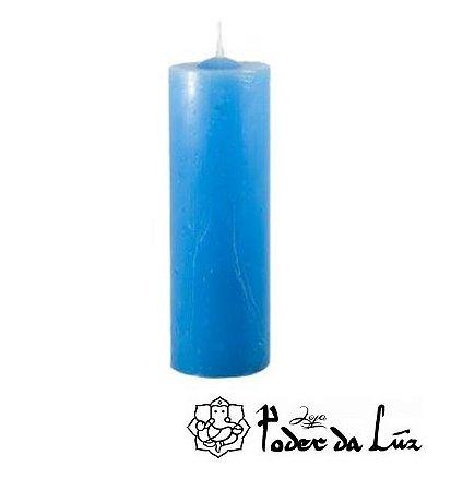 Vela 7 Dias Azul Clara (330g)