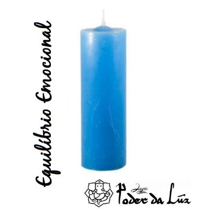 Vela 7 Dias Azul Claro (Equilíbrio Emocional) 330g