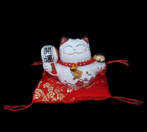 Maneki Neko Harmonia em Porcelana