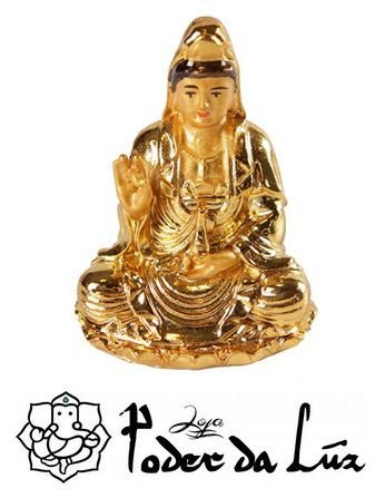 Mini Kuan Yin Dourada 6 cm