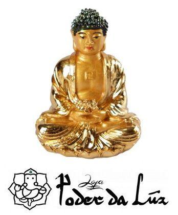 Mini Buda Dourado 6 cm