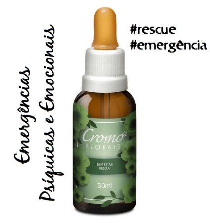 Floral de Bach Rescue Remedy Cromoflorais 30ml