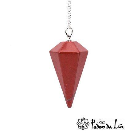 Pêndulo de Jaspe Vermelho
