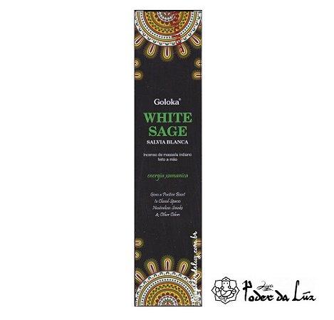 Incenso Massala Goloka White Sage Sálvia Branca
