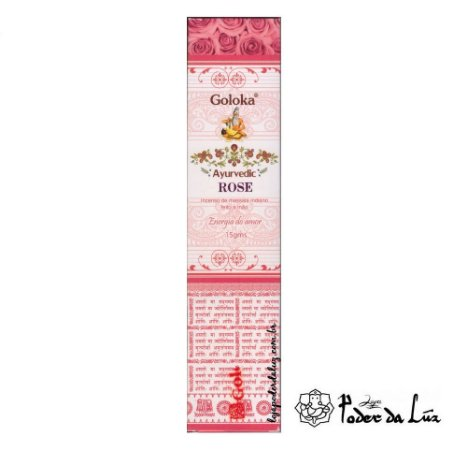 Incenso Massala Goloka Ayurvedic Rose