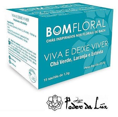Caixa de Chá Viva e Deixe Viver Bom Floral (15 Sachês)