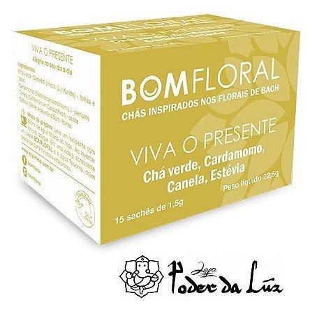Caixa de Chá Viva o Presente Bom Floral (15 Sachês)