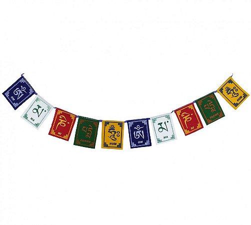Bandeira Tibetana de Oração 10cm