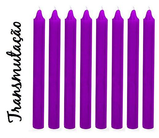 Vela Palito Violeta (maço 8 unidades)