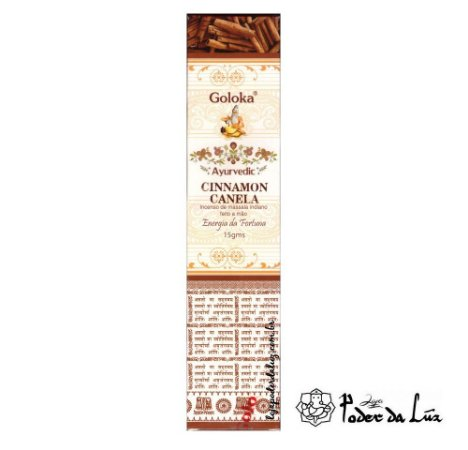 Incenso Massala Goloka Ayurvedic Cinnamon (Canela)