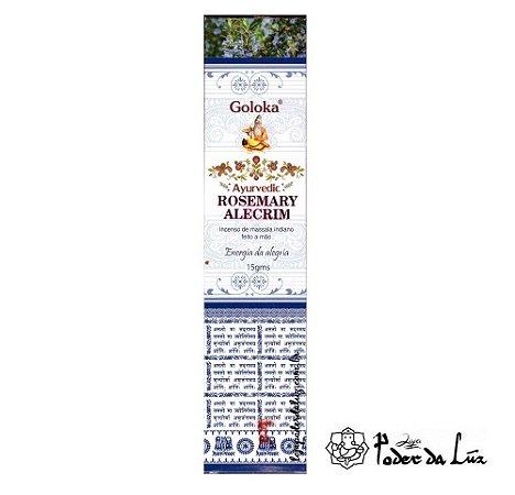 Incenso Massala Goloka Ayurvedic Rosemary (Alecrim)