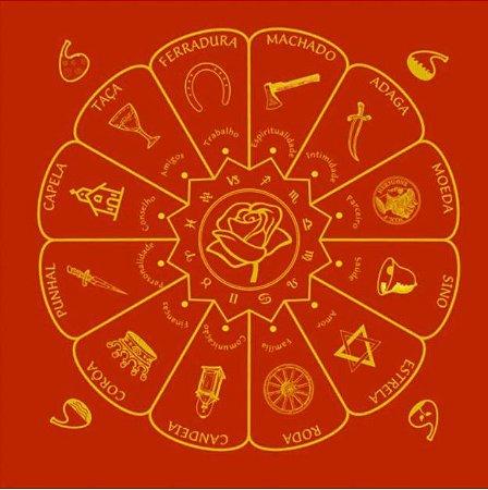 Toalha Cigana Vermelha 70cm