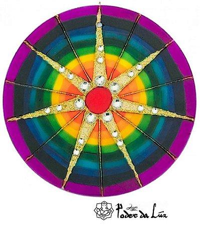 Ativador de Energia Mandala 7 Raios (10cm)