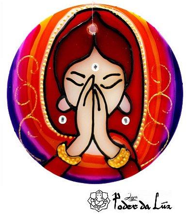 Ativador de Energia Mandala Namastê (10cm)