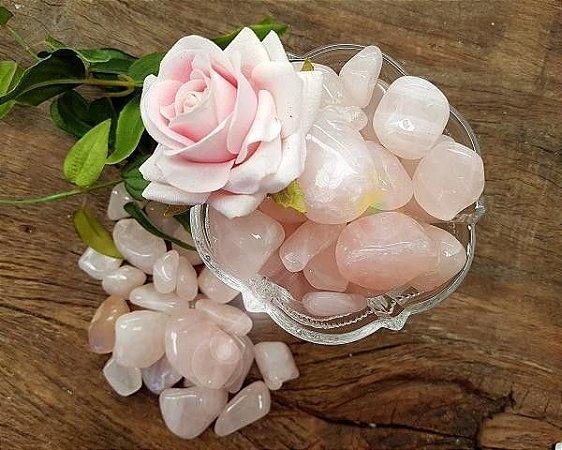 Pedra Quartzo Rosa (unidade de 28g a 36g)