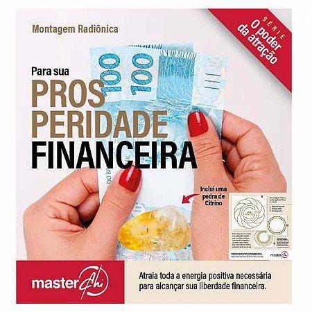 Kit de placas radiônicas para prosperidade financeira + pedra citrino