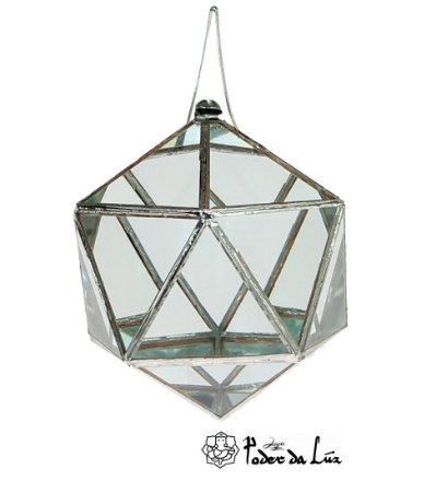 Prisma d'água Icosaedro Juntas Metálicas M