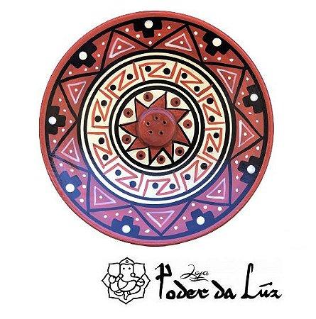 Incensário Cerâmica Peruano Marrom