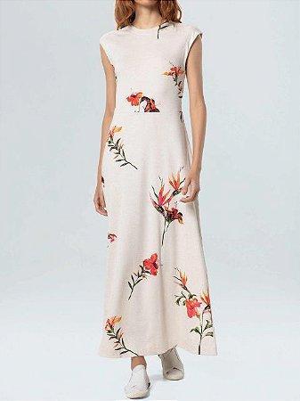 Osklen Vestido Longo Floral Light 61576