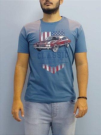 Elemento Zero Camiseta American Power Azul 201-376