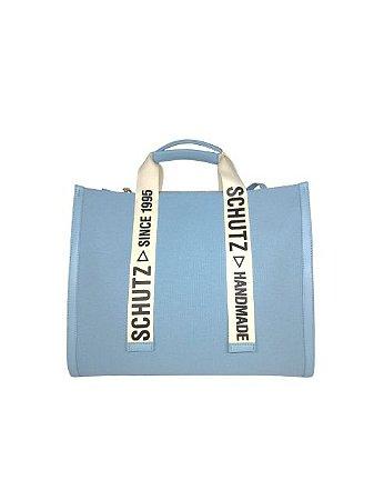 Schutz Bolsa Shopping Grande Livia Lona Azul Candy S5001002320003