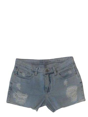 Calvin Klein Short Jeans Detalhe Rasgado - Sj608