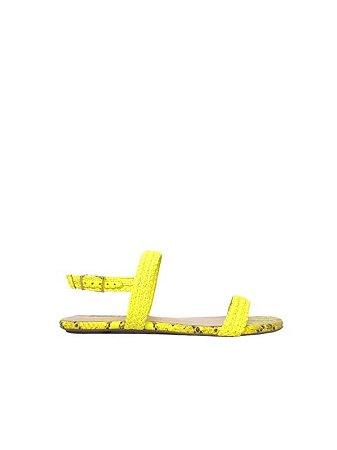 Schutz Rasteira Snake / Amarelo Neon - S0116801400002