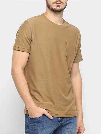 Osklen Tshirt Washed Pocket Spot Camel 56804