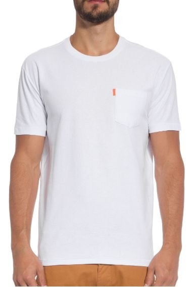 Osklen Tshirt Washed Pocket Spot White 56804